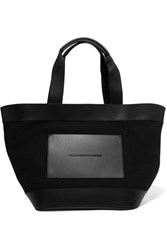 Alexander Wang Leather And Canvas Tote Black