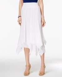 Style And Co Co. Petite Handkerchief Hem A Line Skirt Only At Macy's Bright White