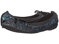 Michael Antonio Pearl Glitter Black Women's Flat Shoes