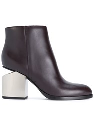 Alexander Wang Gabi Ankle Boots Calf Leather Leather Rubber Red