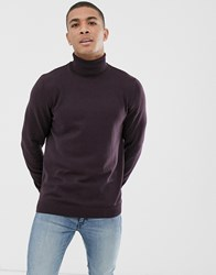 New Look Roll Neck Jumper In Purple