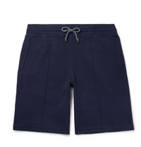 Brunello Cucinelli Cotton Blend Jersey Drawstring Shorts Navy