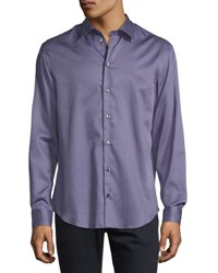 Armani Collezioni Micro Box Printed Sport Shirt Lavender Purple