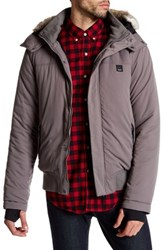Bench Thought Faux Fur Trimmed Jacket Gray
