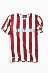 Umbro By Kim Jones X House Of Holland Jersey Striped Tee White