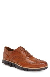 Cole Haan Men's 'Zerogrand' Wingtip Oxford British Tan Antique