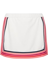 Tory Sport Striped Pique Skirt White