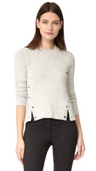 Veronica Beard Cooper Cashmere Sweater Speckled Grey