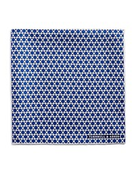 Turnbull And Asser Circle Triangle Pocket Square Blue