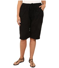 Fresh Produce Plus Size Park Ave Pedal Pusher Black Women's Shorts
