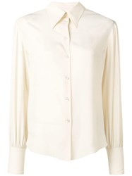 Philosophy Di Lorenzo Serafini Pointed Collar Shirt Neutrals