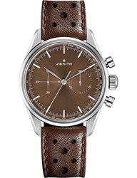 Zenith 03.2150.4069 75.C806 Heritage 146 Stainless Steel And Leather Watch