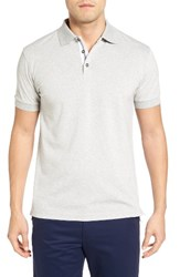 Bobby Jones Men's Solid Pique Golf Polo Heather Grey