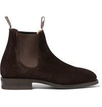R.M.Williams Comfort Craftsman Suede Chelsea Boots Chocolate