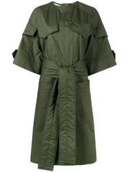 Marni Military Shirt Dress Women Cotton 40 Green