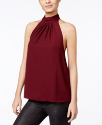 Kensie Draped Halter Top Wildberry
