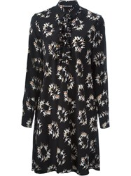 Rochas Ballerina Print Shirt Dress Black