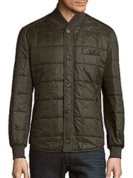 Brunello Cucinelli Solid Quilted Jacket Olive