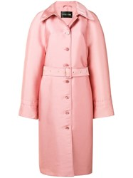 Stine Goya Belted Midi Coat Pink And Purple