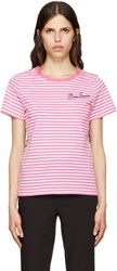 Marc Jacobs Pink Printed Patchwork T Shirt