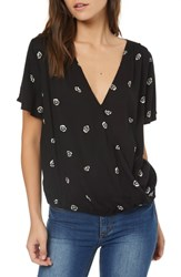O'neill Kat Flutter Sleeve Top Black