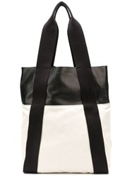 Proenza Schouler Leather Panelled Tote Neutrals