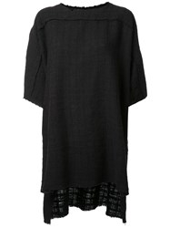 Faith Connexion Woven Raw Edge T Shirt Black