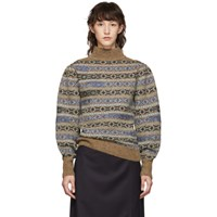 Etoile Isabel Marant Multicolor Knit Ned Fair Isle Sweater
