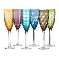 Pols Potten Mixed Cuttings Champagne Glass Set Of 6