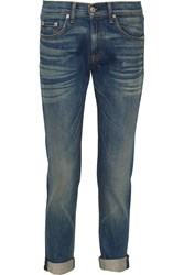 Rag And Bone The Dre Mid Rise Slim Boyfriend Jeans Blue