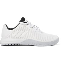 Adidas Sport Crazypower Rubber Trimmed Mesh Sneakers White