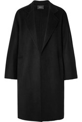 Akris Halma Cashmere Coat Black