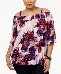 Inc International Concepts Plus Size Off The Shoulder Peasant Top Only At Macy's Red Rose Shower