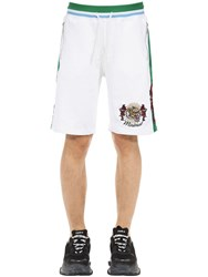Minimal Tiger Embroidered Shorts White
