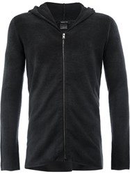 Avant Toi Knitted Zip Hoodie Men Cashmere Merino S Black