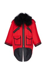 Andrew Gn Fur Collar Jacket Red