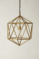 Anthropologie Euclidean Pendant Faceted Orb Brown