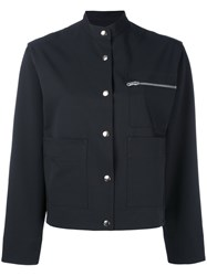 Nomia Buttoned Cropped Jacket Women Polyester Spandex Elastane 4 Blue