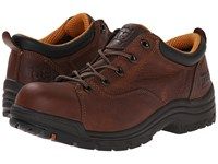 Timberland Titan R Oxford Alloy Safety Toe Brown Full Grain Leather Women's Industrial Shoes