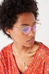 Urban Outfitters Celeste Cat Eye Sunglasses Yellow