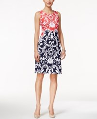 Charter Club Ikat Print Sleeveless Dress Only At Macy's Red Barn Blue