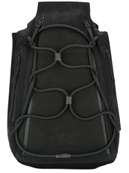Y 3 Elasticated Lace Up Front Backpack Black