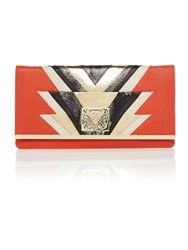 Biba Rosalie Clutch Handbag Orange