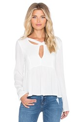 Minkpink Dynamite Cross Front Blouse White