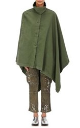 Nsf Women's Asymmetric Button Front Cape Green