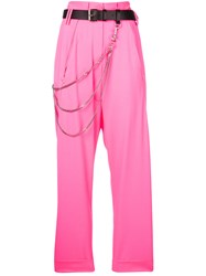 Alyx High Waisted Trousers Pink And Purple