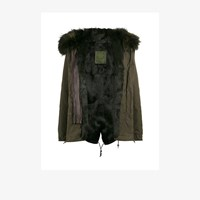 Mr And Mrs Italy Rabbit Fur Lined Parka Coat Green