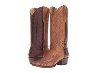 Stetson Quinn Sorrel Brown Burnished Cowboy Boots