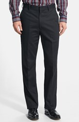 Men's Big And Tall Berle Wrinkle Resistant Cotton Trousers Black