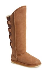 Women's Australia Luxe Collective 'Spartan' Knit And Shearling Tall Boot Mocha Wax Suede